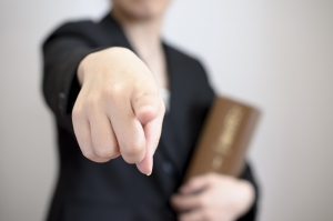 person pointing at you as an example of selective prosecution